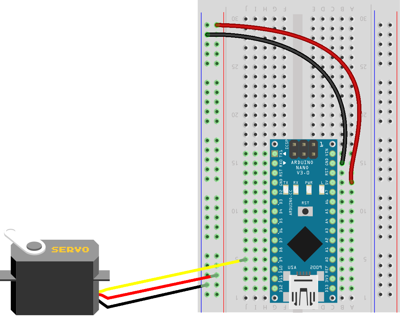 Basic Arduino Circuits Control Electronic Potentiometer Circuit Basiccircuit Servo